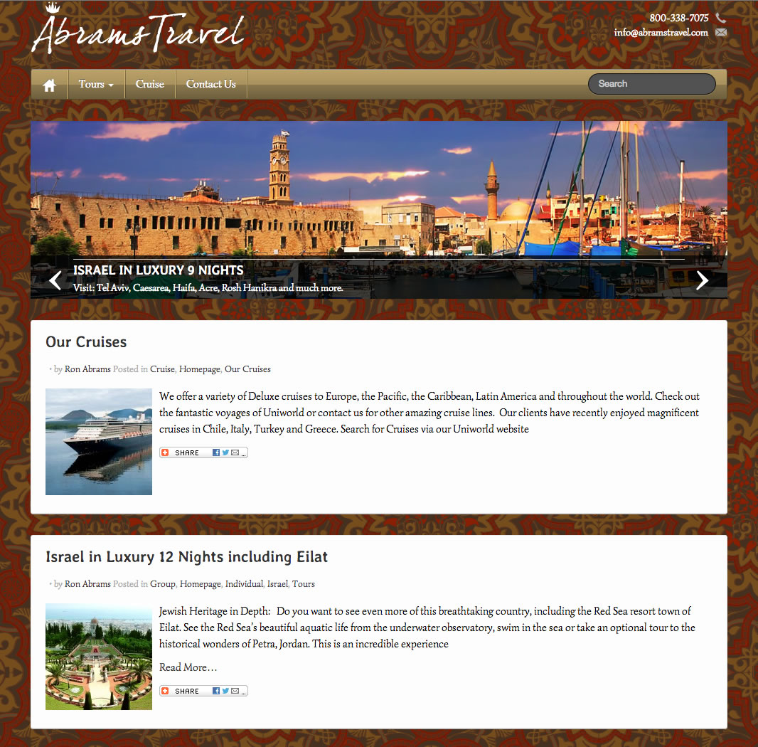 Abrams Travel (WordPress Website)