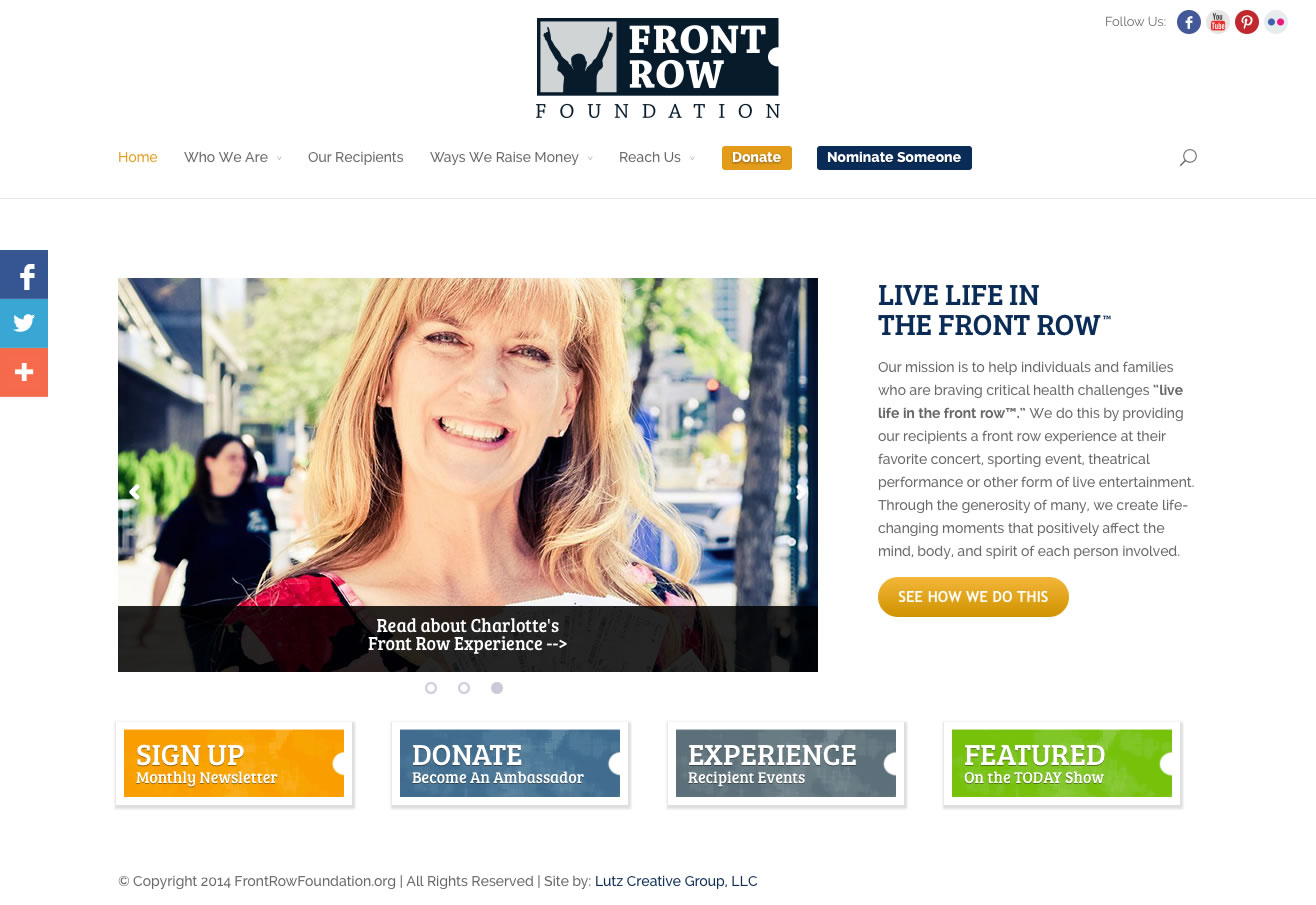 Front Row Foundation (WordPress Website)