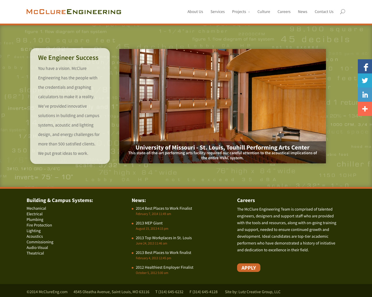 McClure Engineering (WordPress Website)
