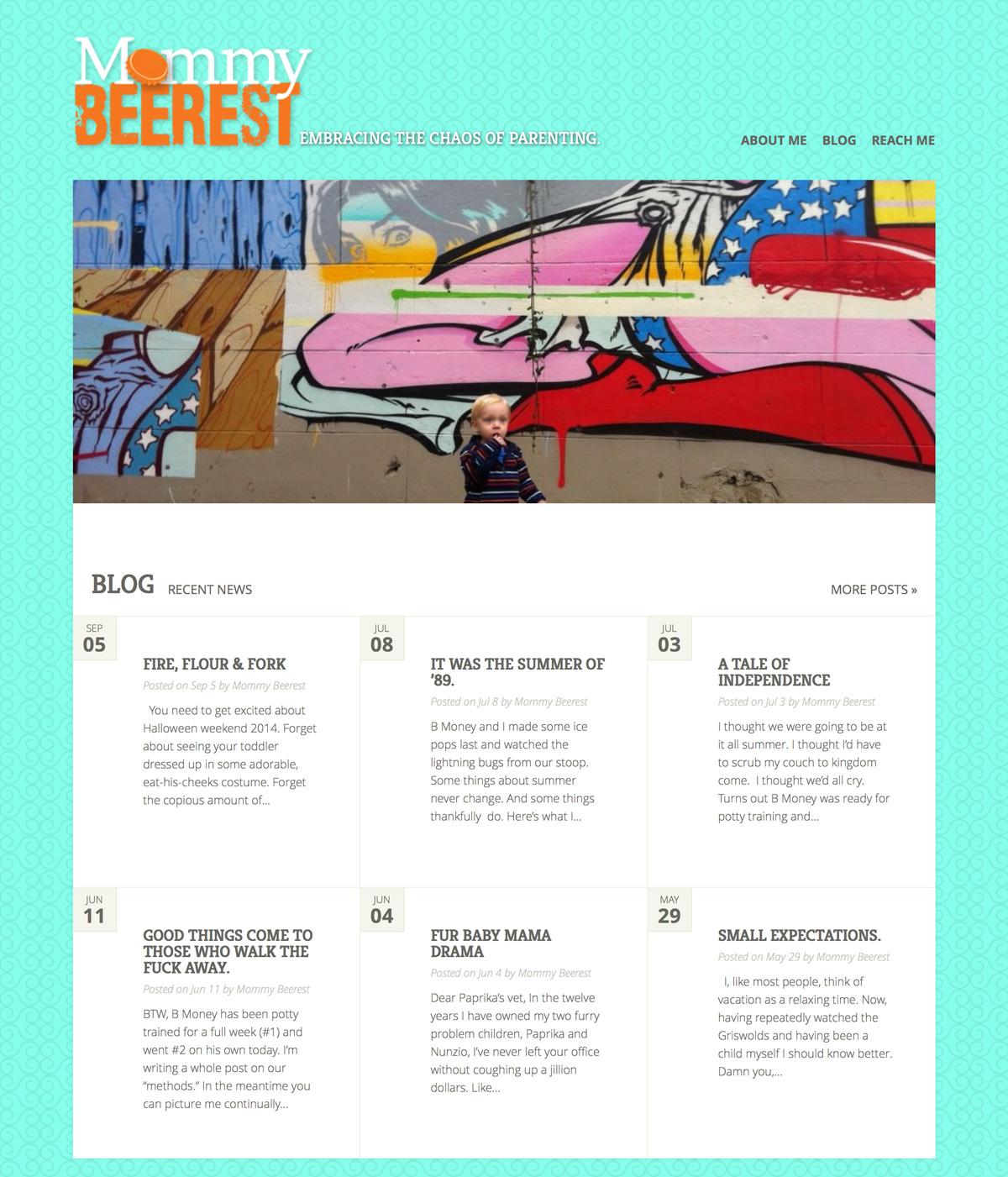Mommy Beerest (WordPress Website)