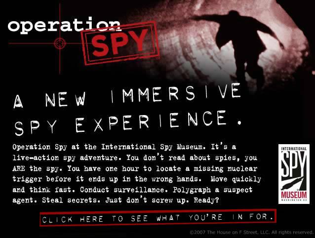 Spy Museum - OpSpy Landing Page (Microsite)