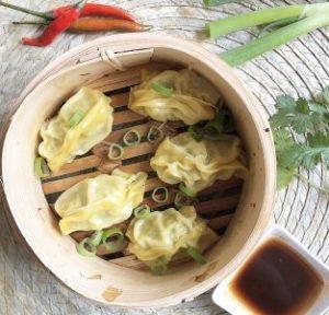 dumplings met garnalen