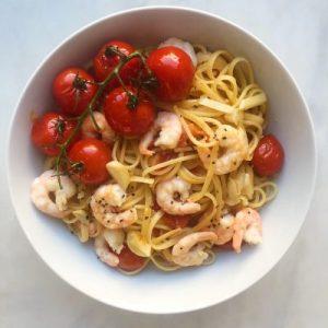 aglio olio met garnalen