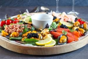 mosselen salade met zalm