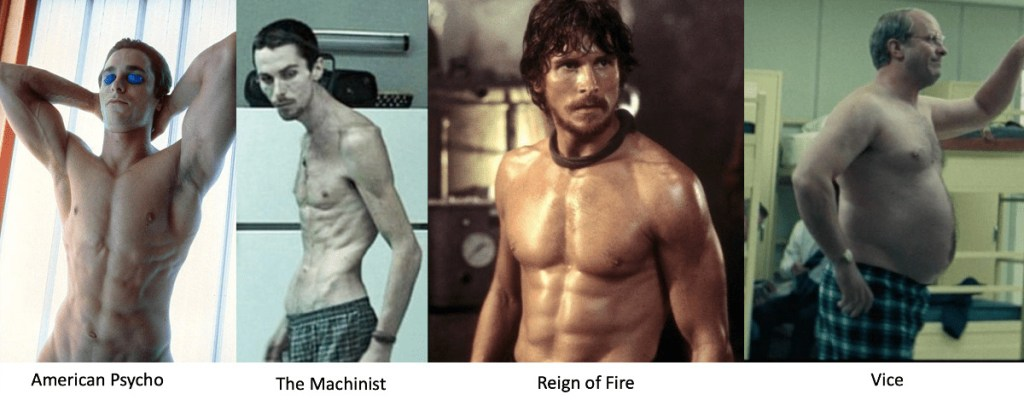 the weight control spectrum - christian bale over the years