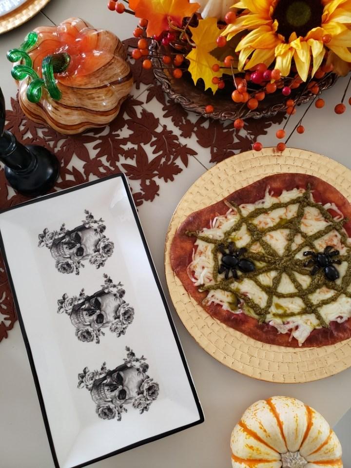 Low Carb & Keto-Friendly Pizza: Halloween Theme
