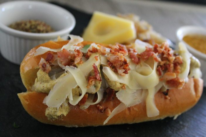 Caramelized Onions with Gruyere Cheese Hot Dog Recipe