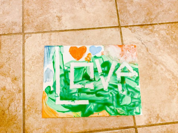 "DIY Toddler Paint ""LOVE"" Project"