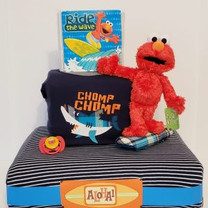 Elmo rides the wave