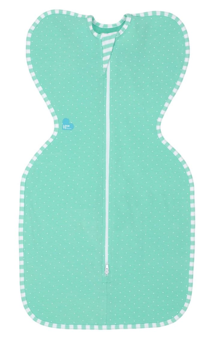 Love to Swaddle Up Lite in Ice green colour
