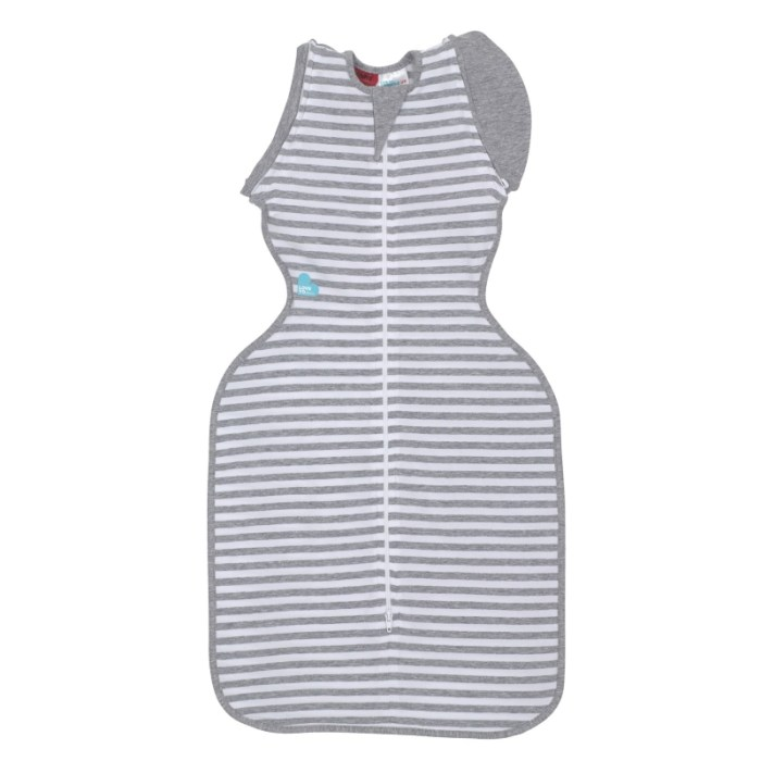 Love to swaddle up 50-50 white stripe