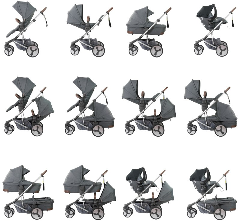 Flexx stroller configurations