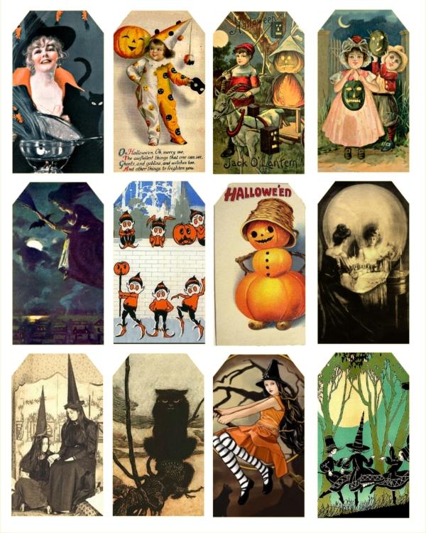 Vintage Halloween Tags Sale Halloween Luvly