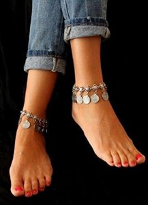 Silver Coin Tassel Gypsy Anklet Only $2.30 Shipped!