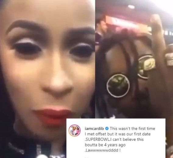 Cardi B Shares Video Of Her First Date With Offset 4 Years Ago