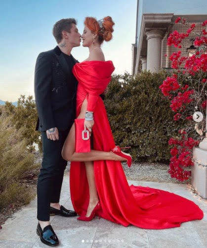 Benjamin Mascolo and Actress, Bella Thorne throw an engagement party with friends and family (photos)
