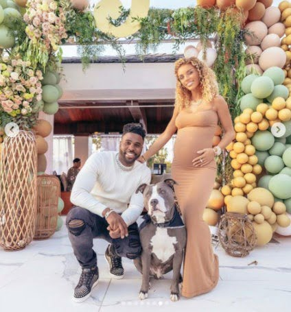 American Singer, Jason Derulo and pregnant girlfriend Jena Frumes post photos from their baby shower