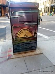 Minneapolis Utility Box Public Art Sunset