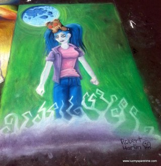 Robert Harlin Sidewalk Chalk Art