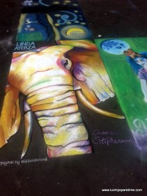 Cassie Stephenson Sidewalk Chalk Art Elephant