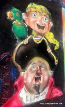 Pirate Sidewalk Chalk Art