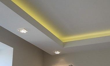 Установка светодиодной ленты на потолок своими руками