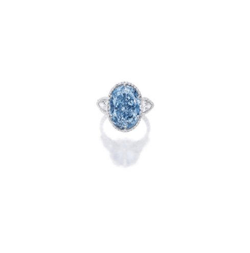 Photo Credit: Sotheby's - Superb and Rare Fancy Vivid Blue Diamond and Diamond Ring