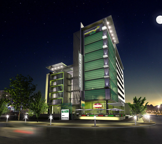 Accra Financial Centre in Ghana night
