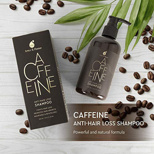 Caffeine Anti-Hair Loss and Hair Growth Shampoo, Volumizing Thinning Hair Terez&Honor Anti-Hair Loss Shampoo is enriched with caffeine which has been scientifically confirmed to successfully stimulate hair progress by suppressing the DHT hormone in each man and lady. DHT is the reason for hair progress suppression, hair loss and baldness.