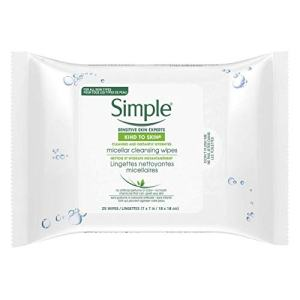 Simple Micellar Make-Up Remover Wipes 25 ea