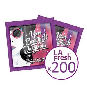 La Fresh Eco Beauty Travel-Friendly, Waterproof Makeup Remover Wipes