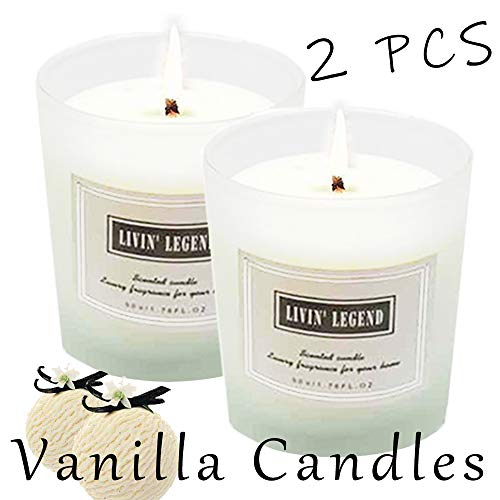 Vanilla Scented Candle-Natural Wax and Sweet Vanilla Essential Candles