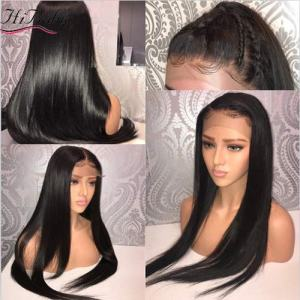Straight 13x6 Lace Front Human Hair Wigs With Baby Hair