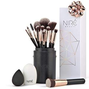 NIRÉ BEAUTY Pro 12-Piece Makeup Brushes Set with Holder