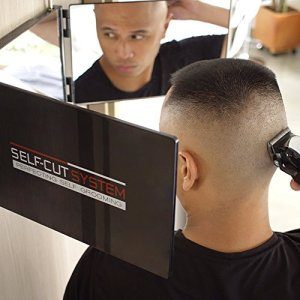 SELF-CUT SYSTEM Travel Version - Three Way Mirror for Self Hair Cutting
