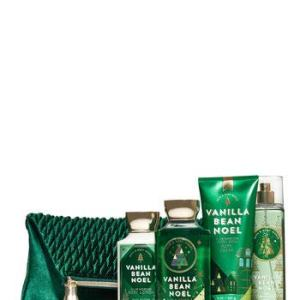 Bath and Body Works VANILLA BEAN NOEL Holiday Traditions Cosmetic Bag