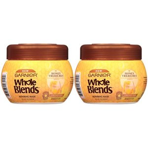 Garnier Whole Blends Honey Treasures Repairing Hair Mask for Dry Damaged Hair