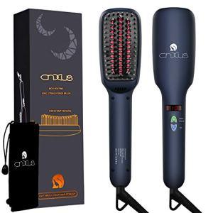 Ionic Hair Straightener Brush, CNXUS MCH Ceramic Heating