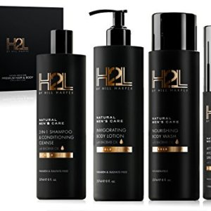 H2L Premium Men's Hair & Skin Care Collection - Gift Set