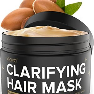 Xtava Clarifying Clay Hair Mask with Argan Oil - 8 Fl.Oz Hair Treatment