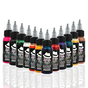 OPHIR 12x30ML/Bottle Airbrush Body Art Inks Pigment for Airbrushing