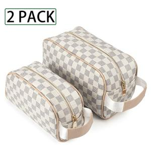 Luxury Checkered Make Up Bag Designer Cosmetic Toiletry Travel Bags