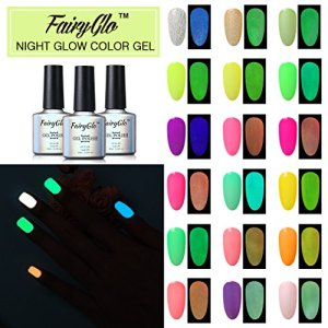 24pcs Nail Polish UV LED Glow in the Dark Dramatic Nail Art Soak Off Varnish Gift