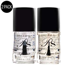 PS Polish Base & Top Coat Nail Polish - Non Toxic Natural Safe Nail Polish Set
