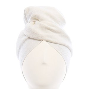 Aquis Original Microfiber Hair Towel, White