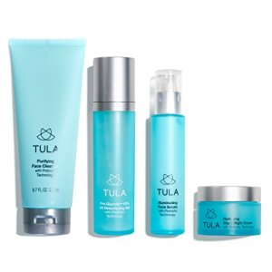 TULA Probiotic Skin Care Discovery Kit (Full-Size) | Face Wash, Day