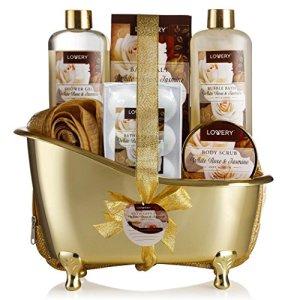 Spa Gift Basket, Luxury 13 Piece Bath & Body Set For Men & Women