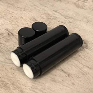 Buttercream Cupcake Flavored Lip Balms Without Labels in Black Tubes