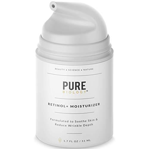 Pure Biology Premium Retinol Cream Face Moisturizer with Hyaluronic Acid