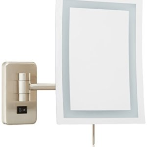 Jerdon Wall Mount Rectangular Direct Wire Makeup Mirror
